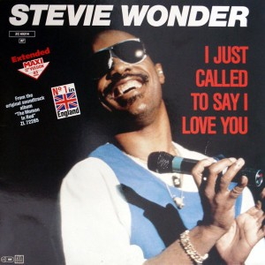 Stevie Wonder / I Just Called To Say I Love You 12 inch